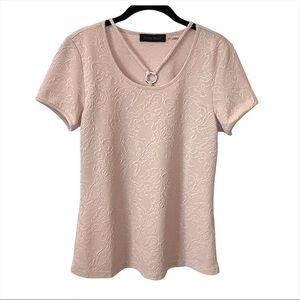 NWT Ivanka Trump Dusty Blush Pink Textured Top S